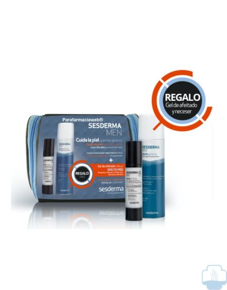 Sesderma men locion facial antienvejecimiento 50ml + regalo gel de afeitar 200ml y neceser