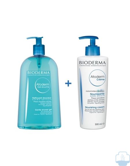 Bioderma atoderm pack gel de ducha 500 ml + locion corporal 500 ml