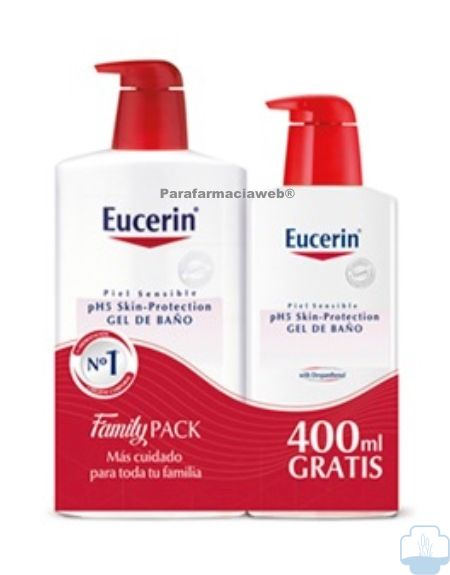 Eucerin gel de baño 1000 ml + 400ml
