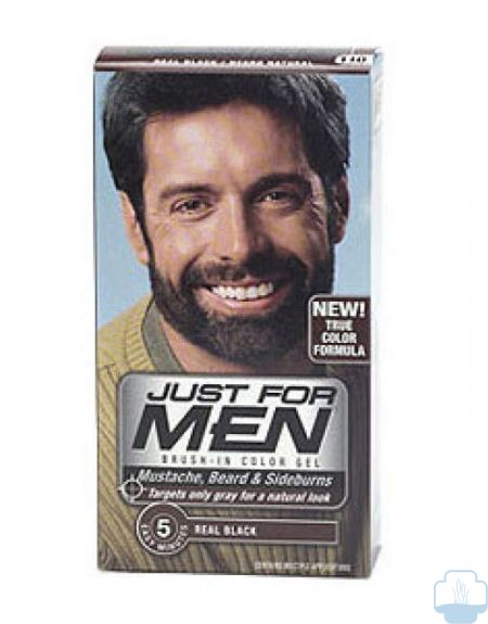 Just for men negro natural colorante en gel