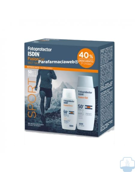 Isdin fotoprotector pack fusion water 50ml + fuision gel sport 100ml