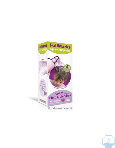 Fullmarks spray antipiojos  y lendrera 150ml
