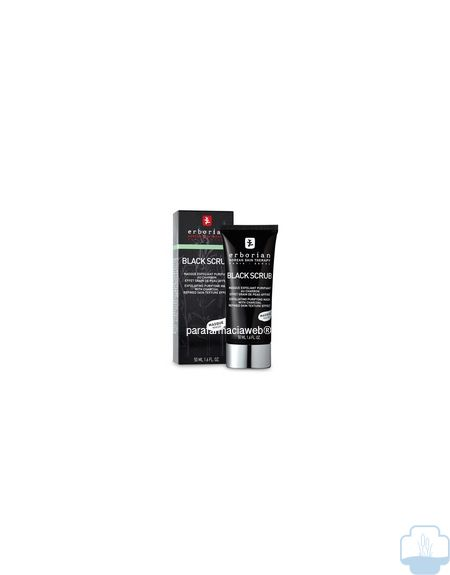 Erborian black scrub exfoliante purificante de carbon 50ml
