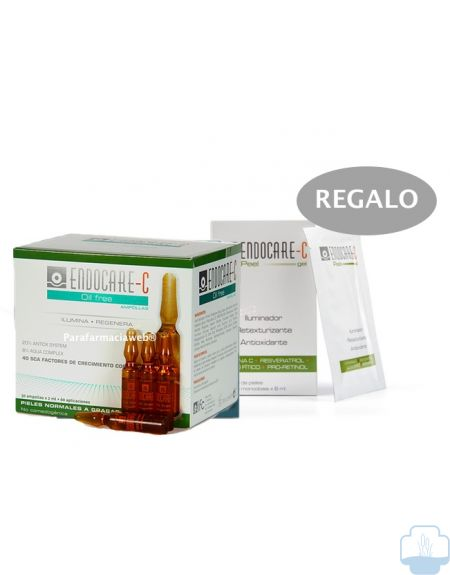 Endocare c ampollas oil free  30 ampollas + regalo endocare c peel mascarilas
