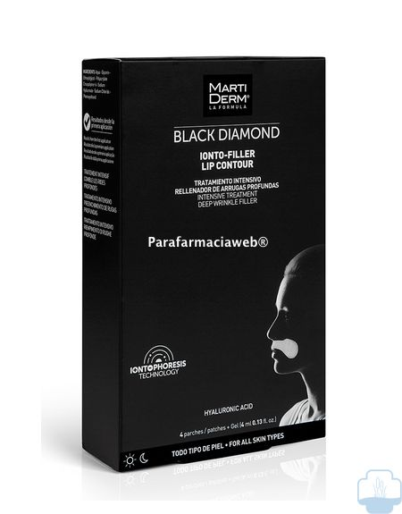 Martiderm black diamond ionto filler lip contour 4 parches