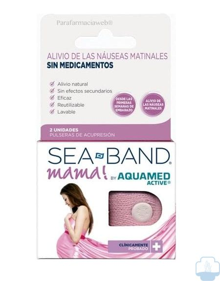 Aquamed active sea band pulsera antiamareo mama 2 unds