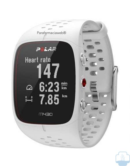 Polar m430 reloj gps running color blanco