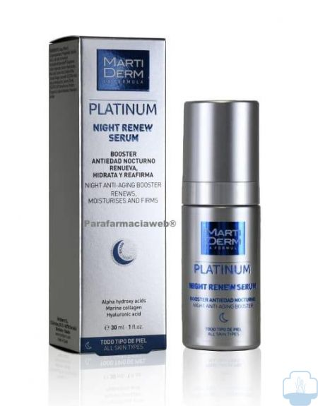 Martiderm platinum night renew serum 30ml