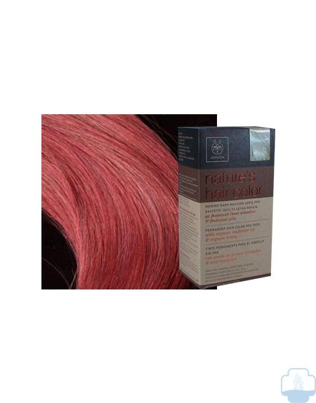 Apivita tinte natural 6.56 rojo intenso