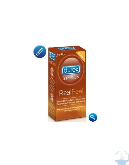 Durex real feel sensitivo 10 preservativos