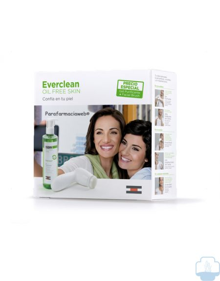 Isdin everclean pack gel + facial brush