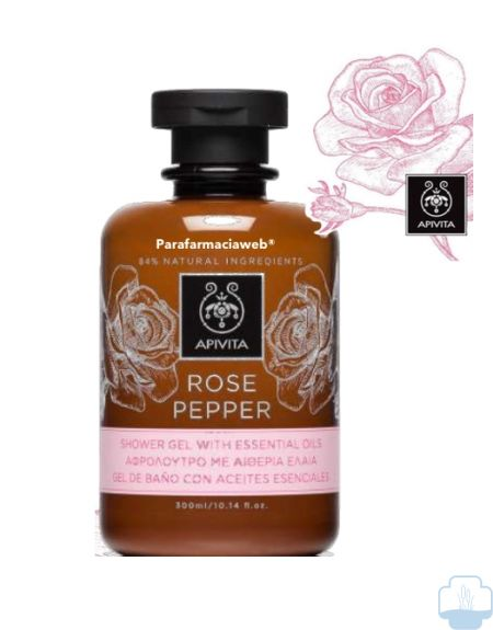 Apivita rose pepper gel de baño
