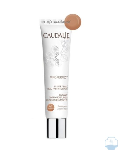 Caudalie vinoperfect fluido color spf 50 tono medio