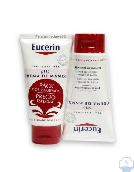 Eucerin crema manos ph5 duplo  x 75 ml