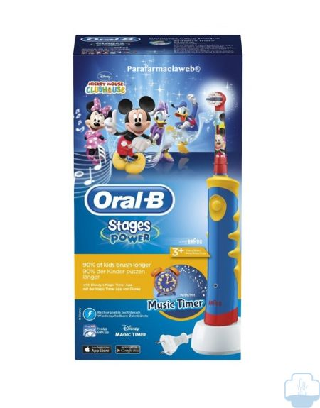 Oral b cepillo electrico infantil disney mickey