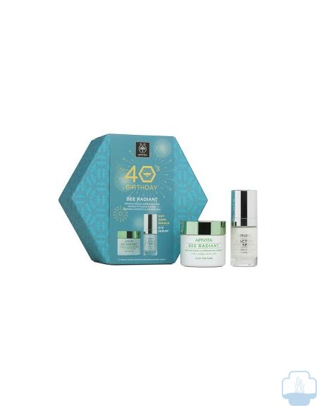Apivita cofre bee radiant crema ligera 50ml + regalo 5-action serum contorno ojos 15ml
