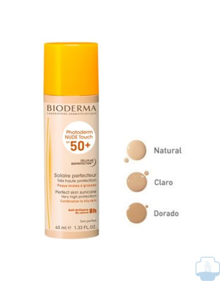 Bioderma photoderm nude touch spf 50 tono dorado 40ml