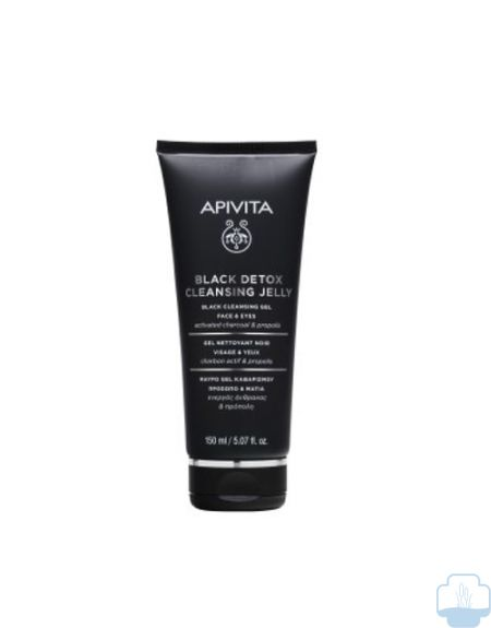 Apivita Black Detox Gel Purificante Carbón Cara y Ojos 150ml