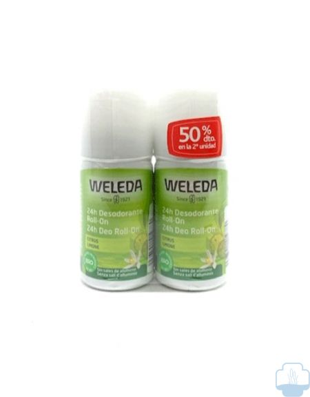 Weleda  desodorante citrus 24h roll-on 50ml duplo