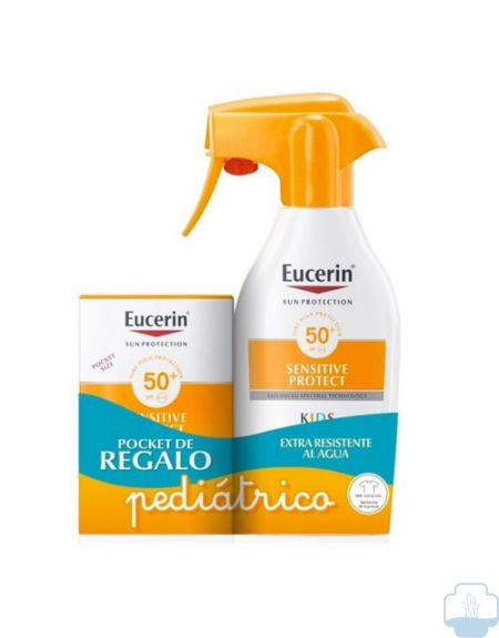 Eucerin sun protection pistola infantil spf 50 300ml + regalo solar pocket spf 50ml