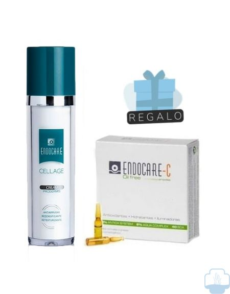 Endocare cellage crema antiedad 50ml + regalo endocare ampollas 3 unidades