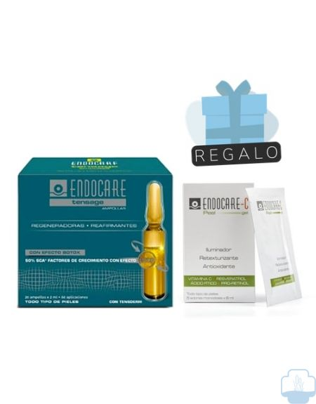 Endocare tensage 20 ampollas + regalo c peel mascarillas