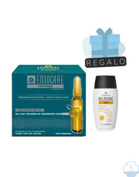 Endocare tensage 20 ampollas + regalo heliocare 360 water gel spf 50 15ml