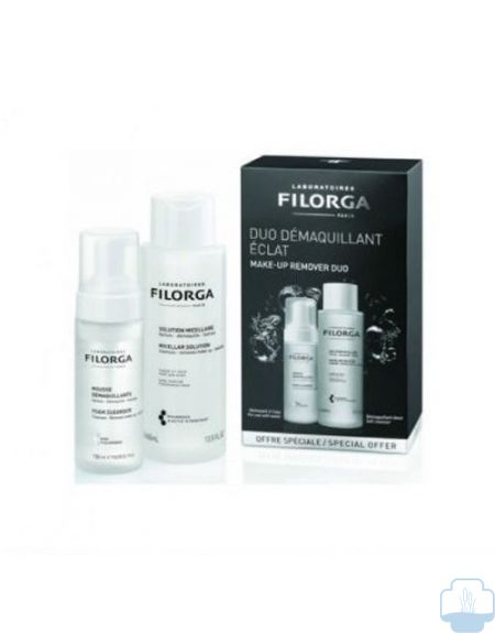 Filorga duo desmaquillante agua micelar 400ml + mousse desmaquillante 150ml