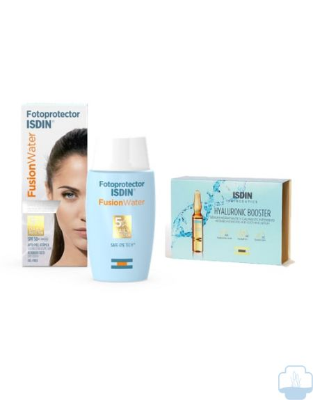 Isdin Fusion Water SPF 50 + Regalo Hyaluronic Booster 5 ampollas