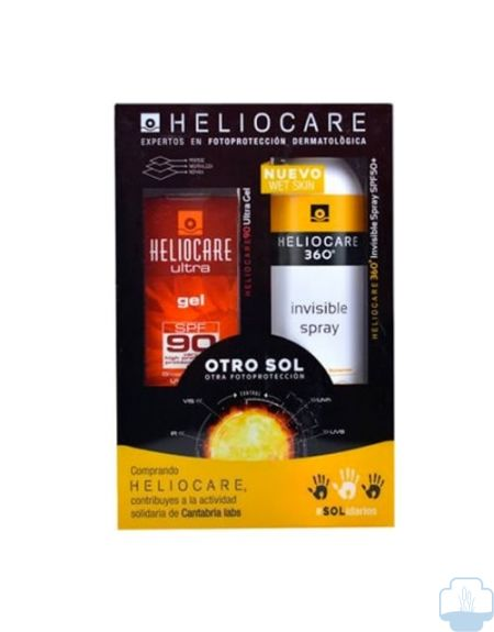 Heliocare pack gel SPF90 50ml + 360º spray invisible 200ml