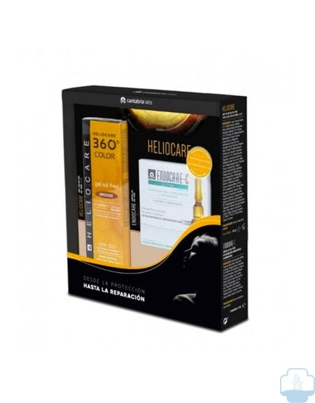 Heliocare 360º Color Gel Oil-Free SPF 50 Bronze + 7 Amp Endocare-C Oil Free