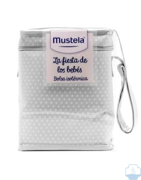 Mustela nevera con productos hydra bebe 300ml + crema balsamo 100ml + dermolimpiador 200ml color gris