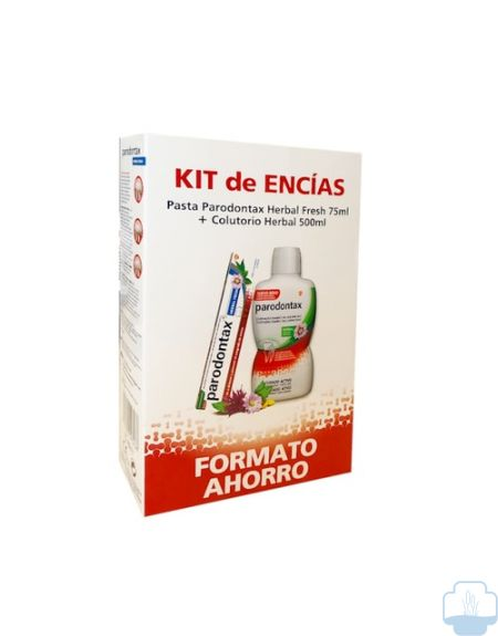 Parodontax Kit Encias Pasta Herbal Fresh 75ml + Colutorio Herbal 500ml