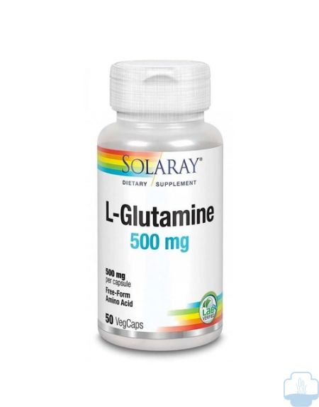 Solaray L-Glutamine 500 mg 50 Cápsulas