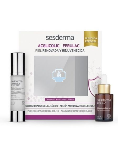 Sesderma cofre acglicolic gel crema 50ml + ferulac serum 30ml