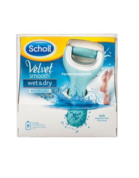 Dr Scholl lima electronica velvet wet dry pies suaves