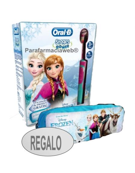 Oral b cepillo electrico infantil stages power frozen regalo estuche