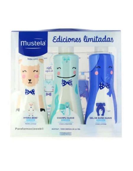 Mustlea pack  leche coporal 500ml champu 500ml y gel 500ml