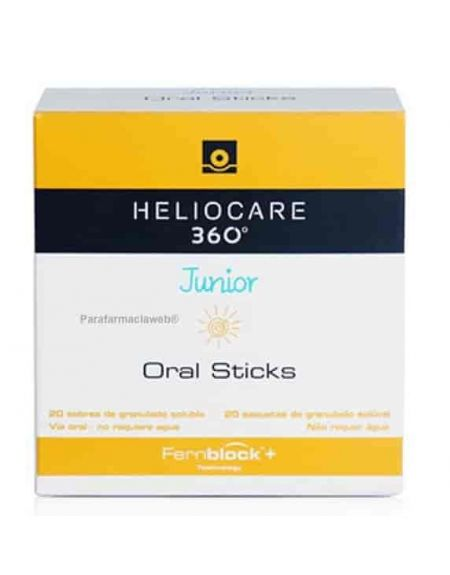 Heliocare 360º junior fotoprotector oral 20 sticks