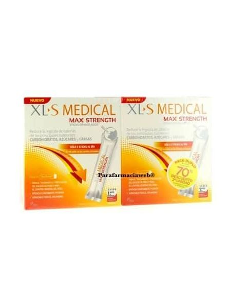Xls medical max strength duplo 2x60 sticks bucodispensables