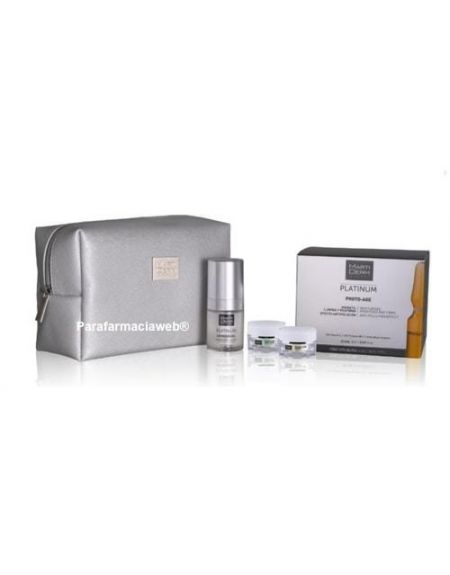 Martiderm platinum photo-age neceser con 30 ampollas + expression gel 15ml + gf vital age para dia y noche de 5ml