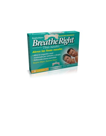 Breathe Right tiras nasales mentoladas grande 8 und