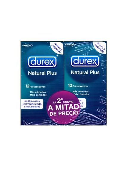 Durex natural plus pack 2 unidades