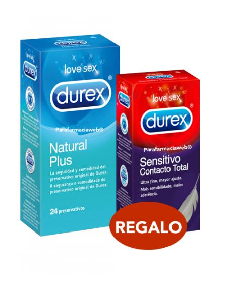 Durex preservativos natural 24 regalo 6 sensitivo