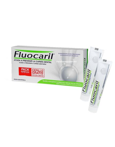 Fluocaril blanqueador acción prolongada pack 2x125 ml