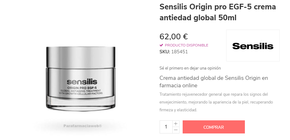 comprar sensilis antiedad global