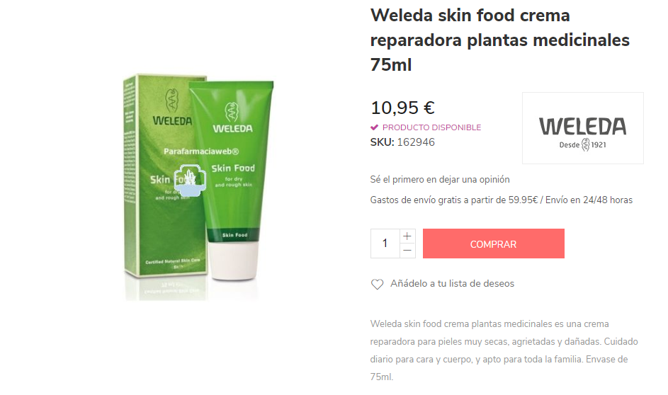 comprar crema weleda online